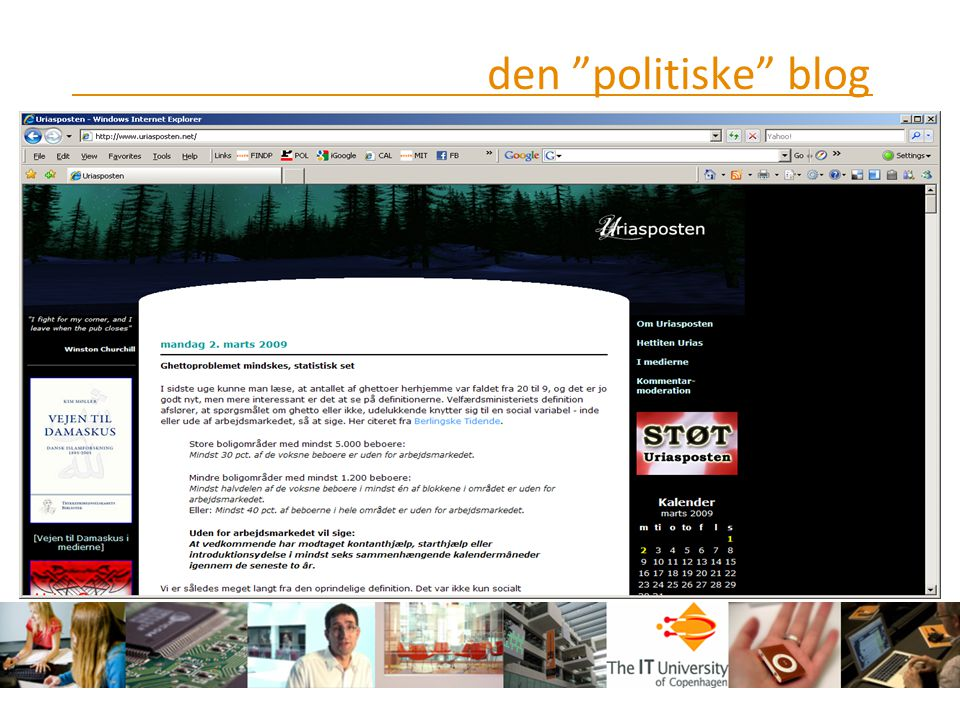 den politiske blog
