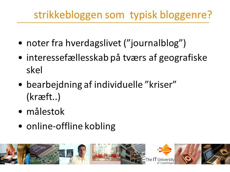 strikkebloggen som typisk bloggenre