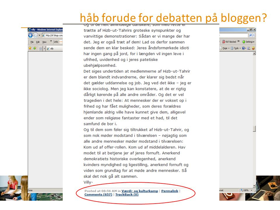 håb forude for debatten på bloggen