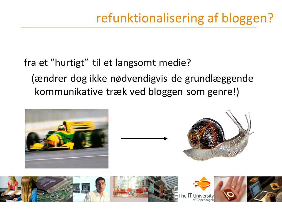 refunktionalisering af bloggen