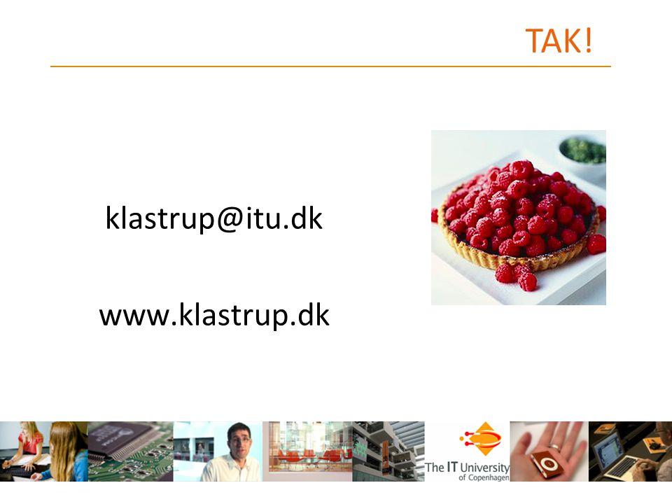 TAK! klastrup@itu.dk www.klastrup.dk