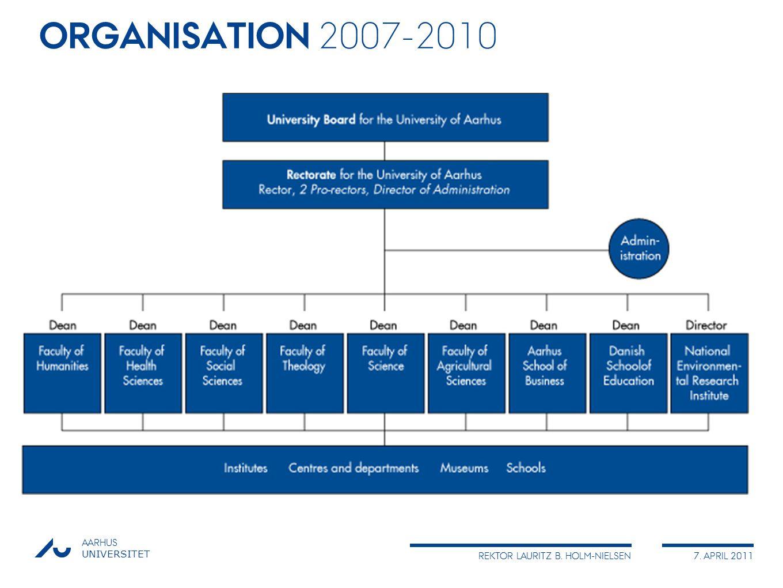 ORGANISATION 2007-2010