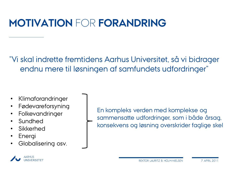 MOTIVATION FOR FORANDRING