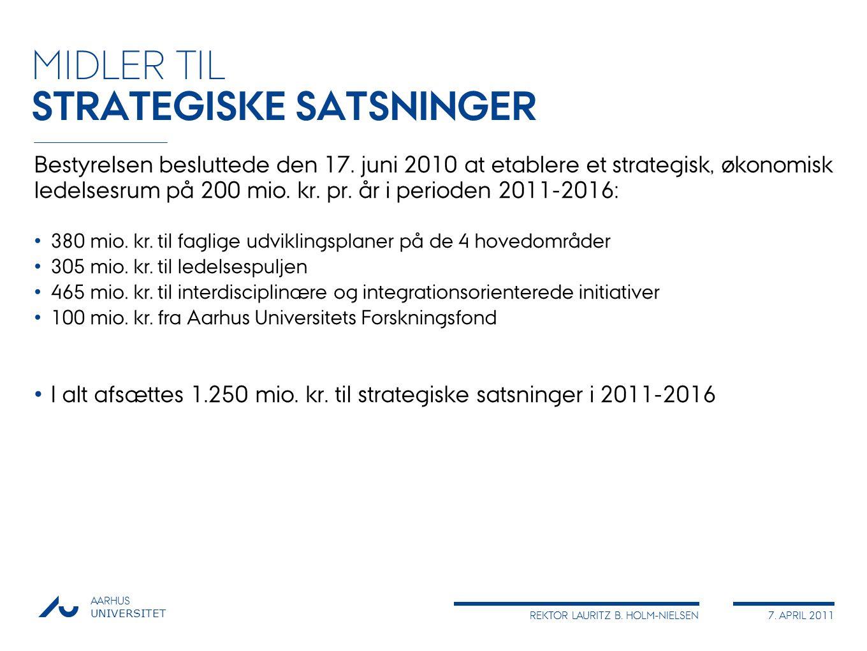 STRATEGISKE SATSNINGER