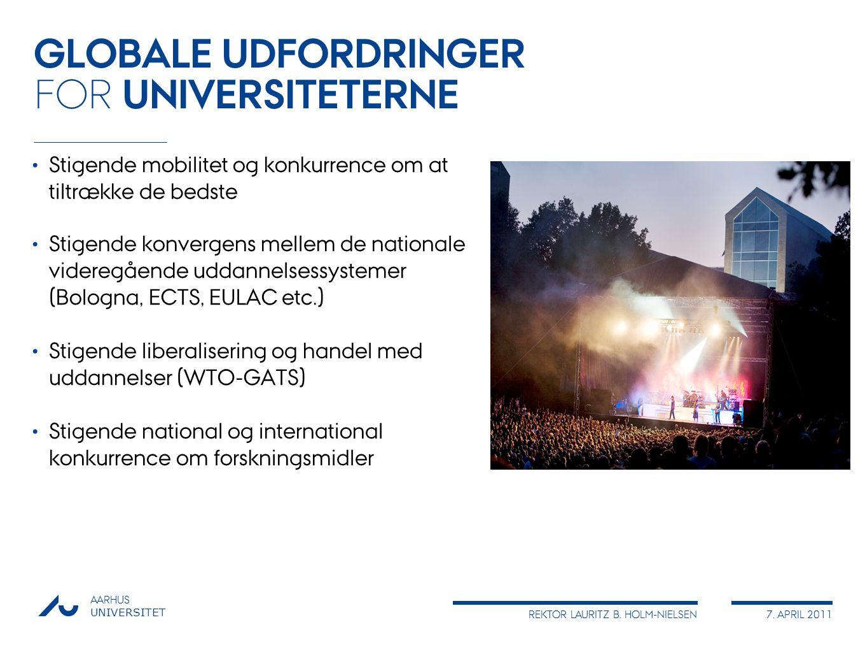 GLOBALE UDFORDRINGER FOR UNIVERSITETERNE