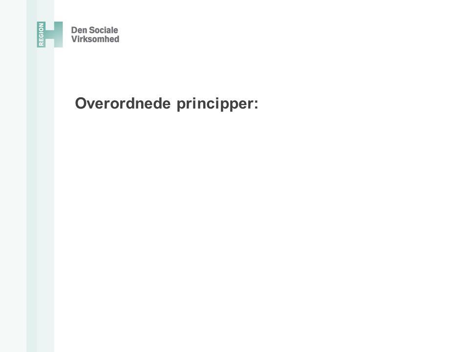 Overordnede principper: