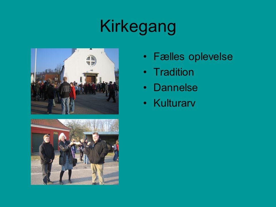 Kirkegang Fælles oplevelse Tradition Dannelse Kulturarv