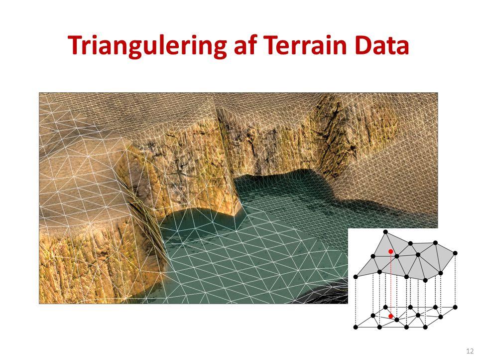 Triangulering af Terrain Data