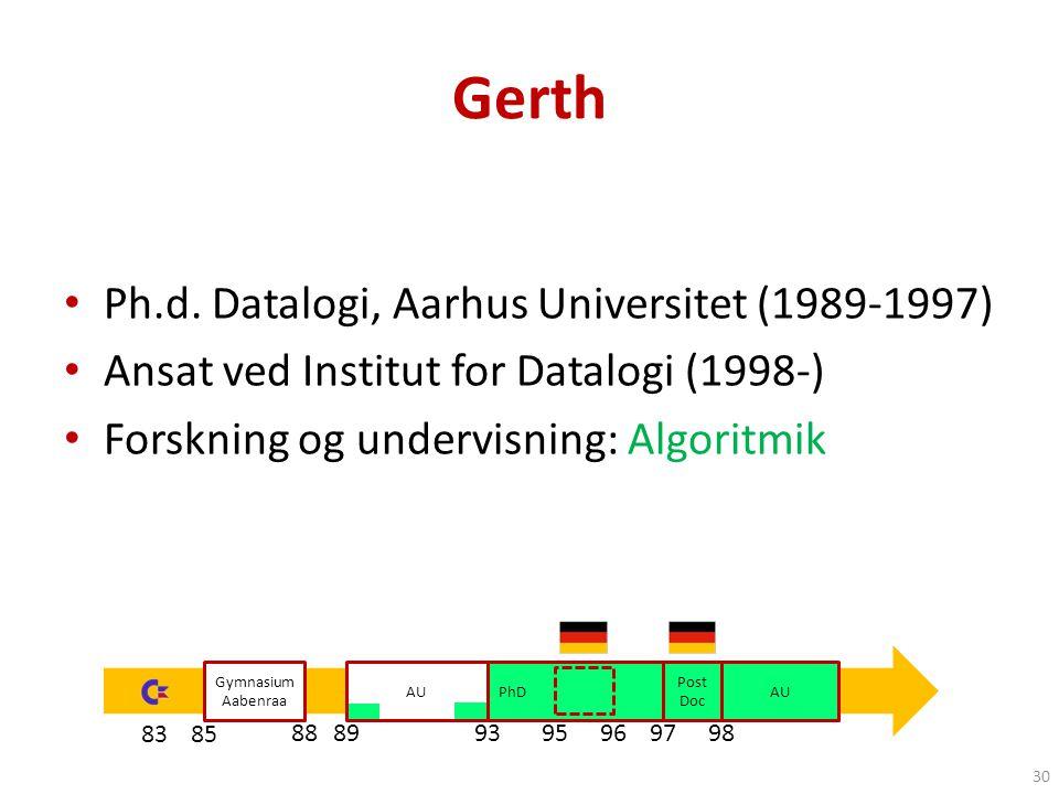 Gerth Ph.d. Datalogi, Aarhus Universitet (1989-1997)