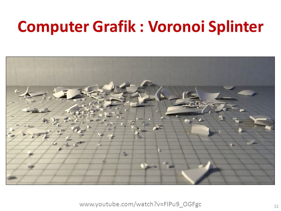 Computer Grafik : Voronoi Splinter