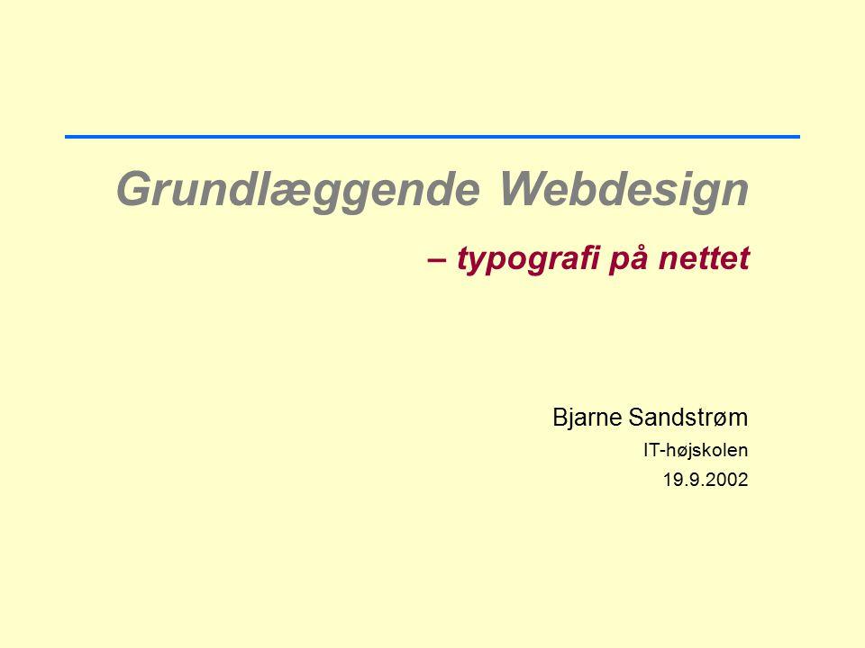Grundlæggende Webdesign