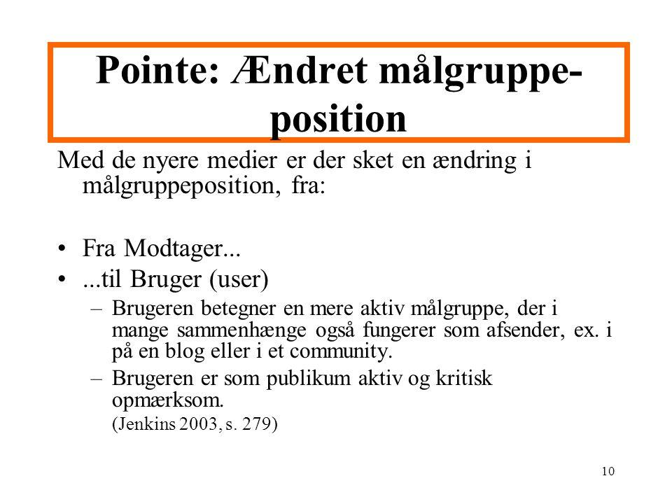 Pointe: Ændret målgruppe-position