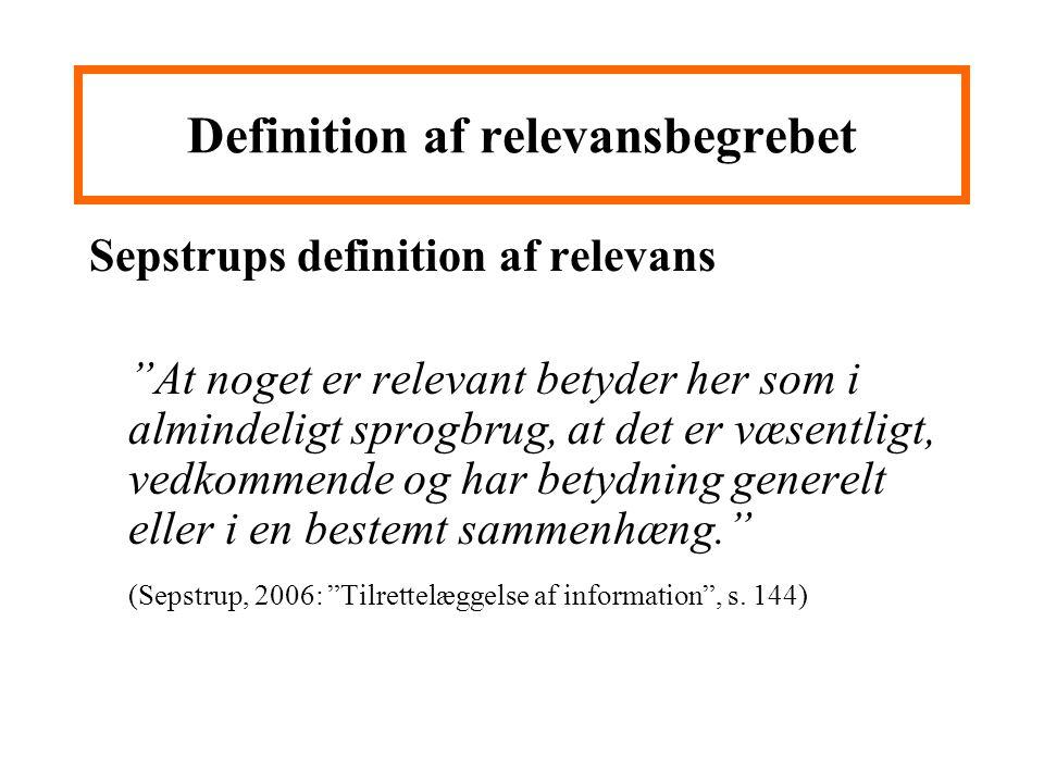 Definition af relevansbegrebet