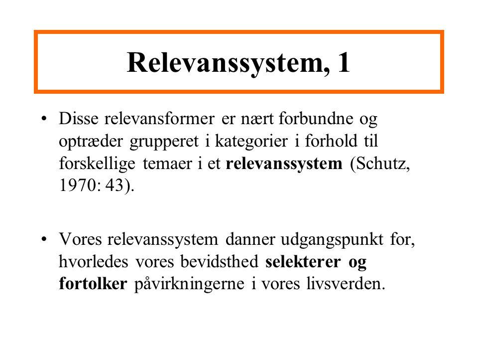 Relevanssystem, 1