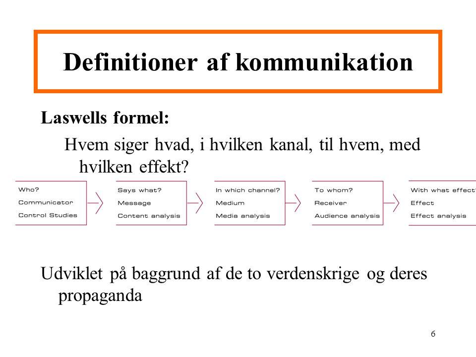 Definitioner af kommunikation