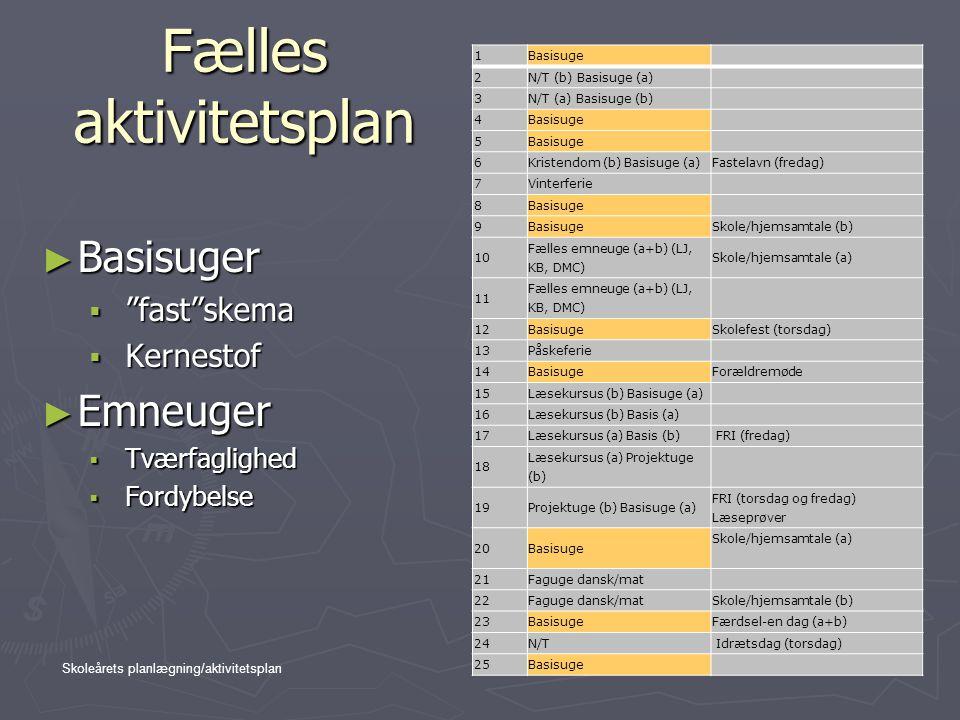 Fælles aktivitetsplan