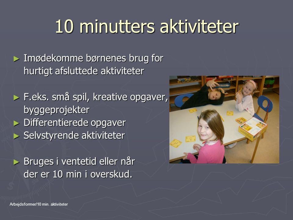 10 minutters aktiviteter