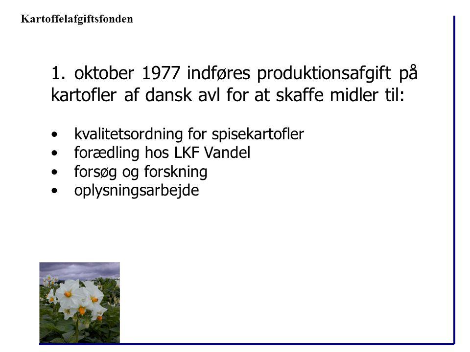 oktober 1977 indføres produktionsafgift på
