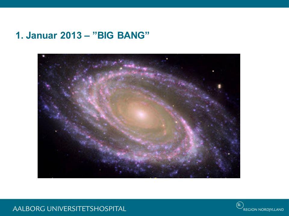 1. Januar 2013 – BIG BANG Mest mærkbart for ledelsesgruppen på hospitalet.