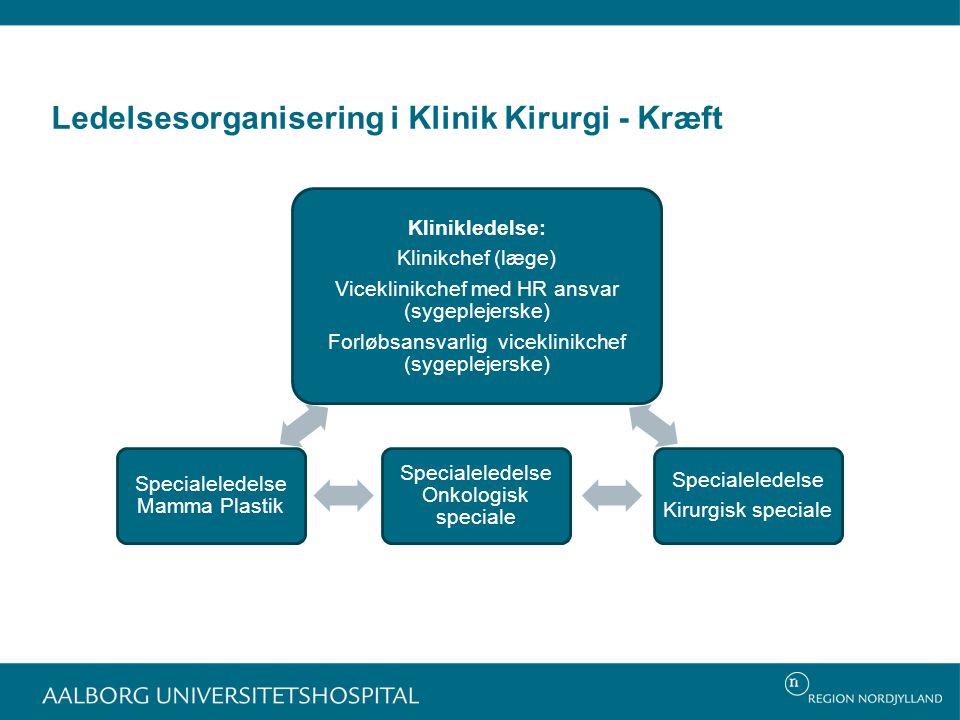 Ledelsesorganisering i Klinik Kirurgi - Kræft