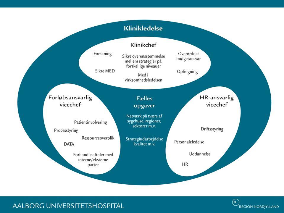 Rolle fordelingen i klinikledelsen