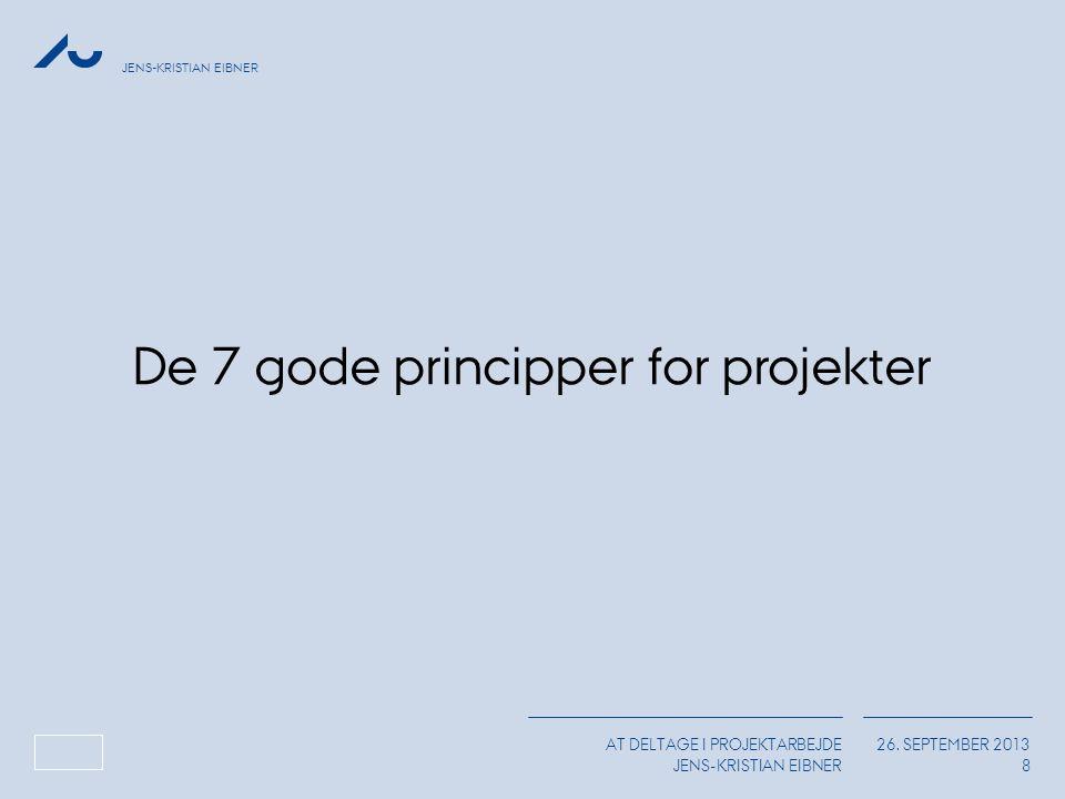 De 7 gode principper for projekter