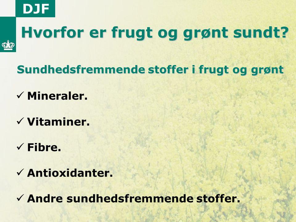 Sundhedsfremmende stoffer i frugt og grønt