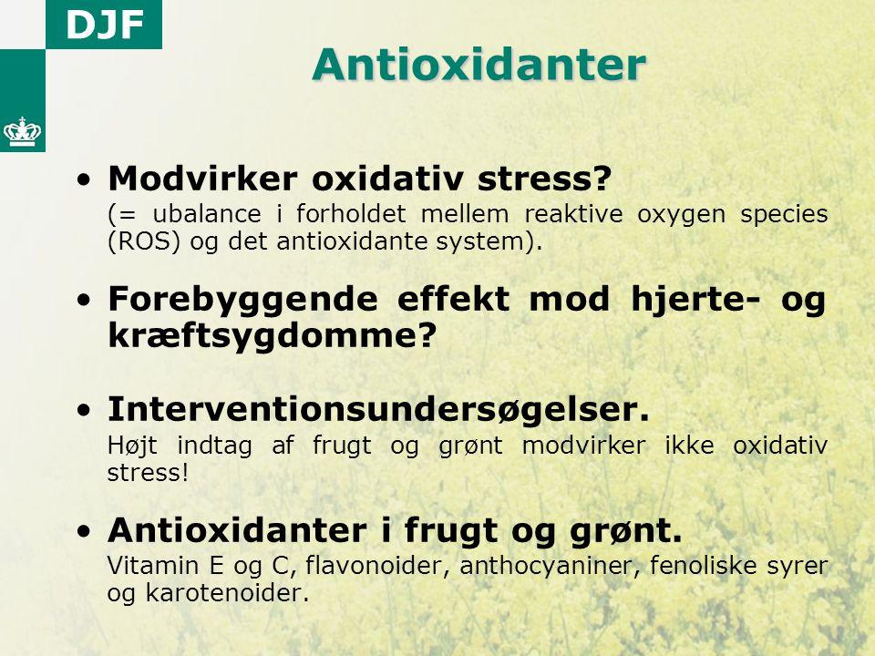 Antioxidanter Modvirker oxidativ stress