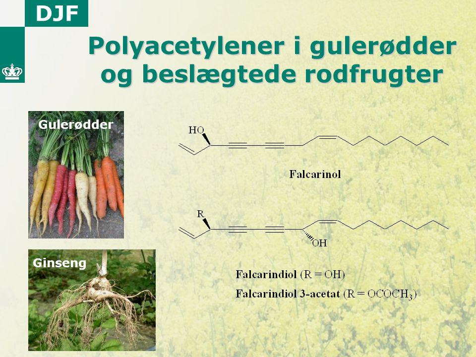 Polyacetylener i gulerødder og beslægtede rodfrugter