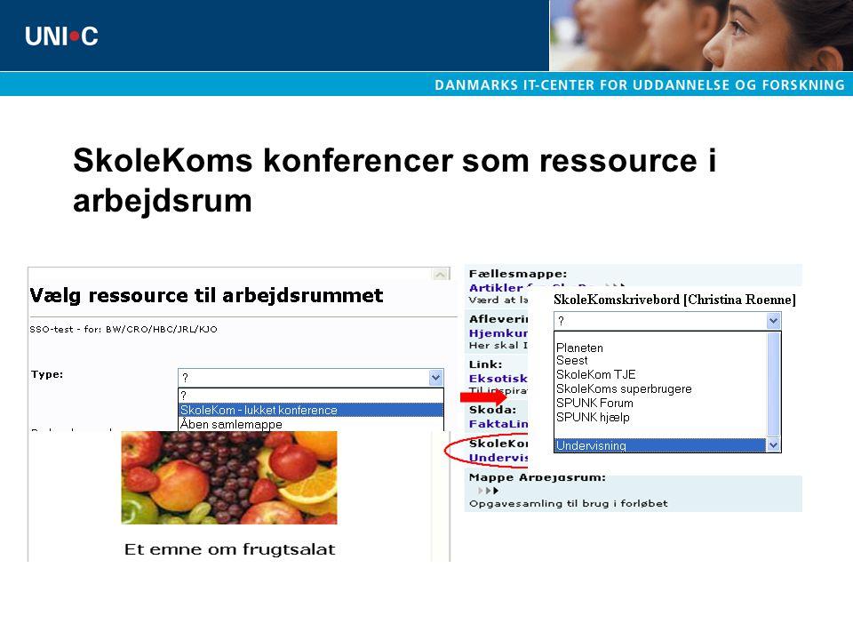 SkoleKoms konferencer som ressource i arbejdsrum