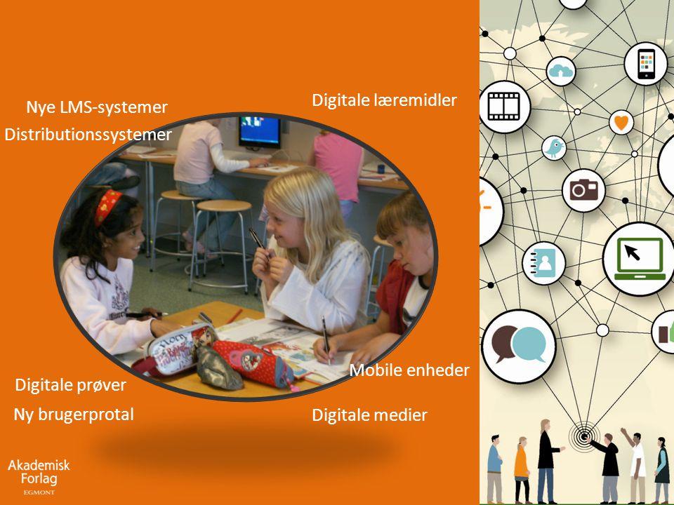 Digitale læremidler Nye LMS-systemer. Distributionssystemer. Mobile enheder. Digitale prøver. Ny brugerprotal.