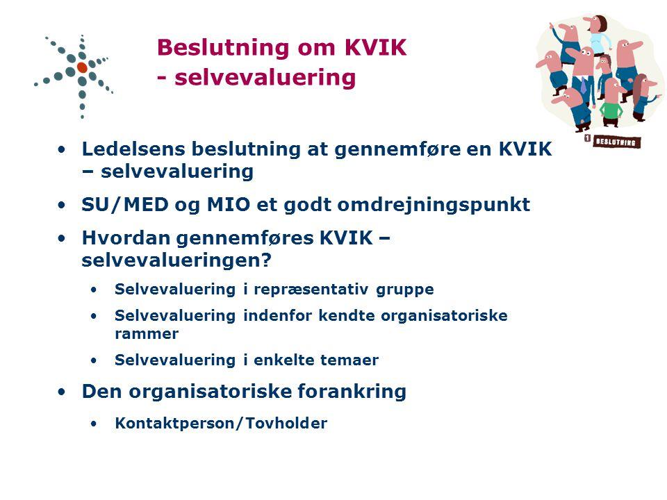 Beslutning om KVIK - selvevaluering