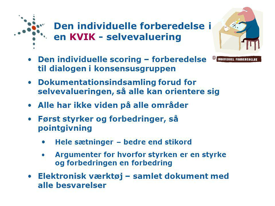 Den individuelle forberedelse i en KVIK - selvevaluering
