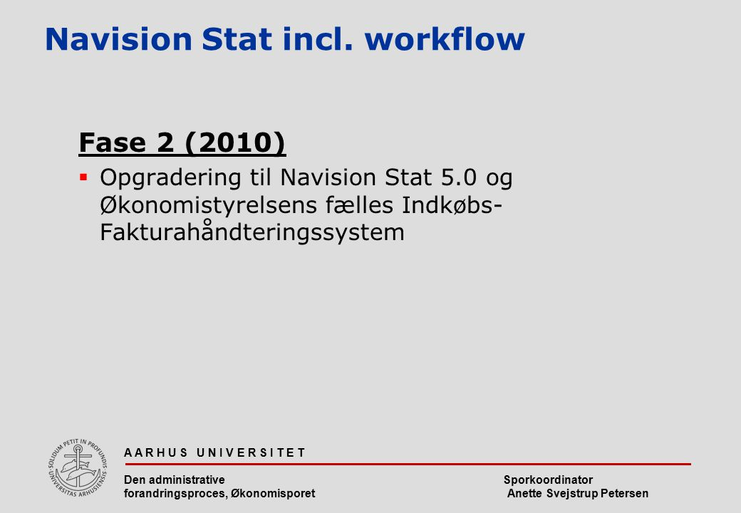 Navision Stat incl. workflow