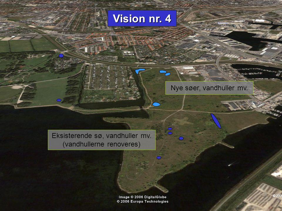 Vision nr. 4 Nye søer, vandhuller mv. Eksisterende sø, vandhuller mv.