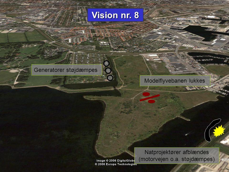 Vision nr. 8 Generatorer støjdæmpes Modelflyvebanen lukkes