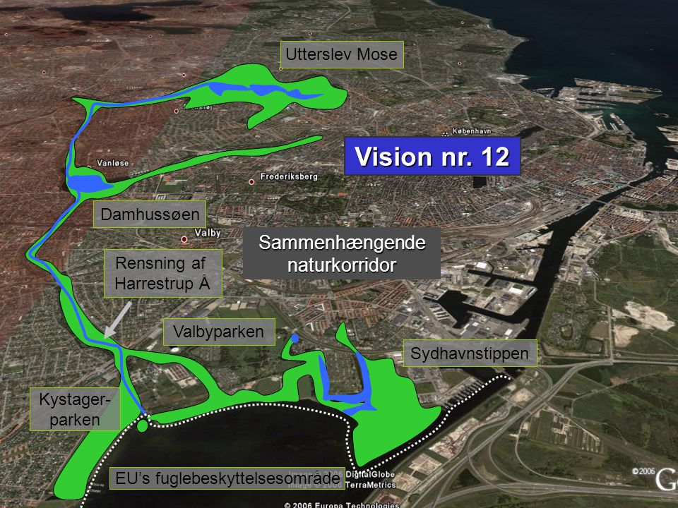 Vision nr. 12 Sammenhængende naturkorridor Utterslev Mose Damhussøen