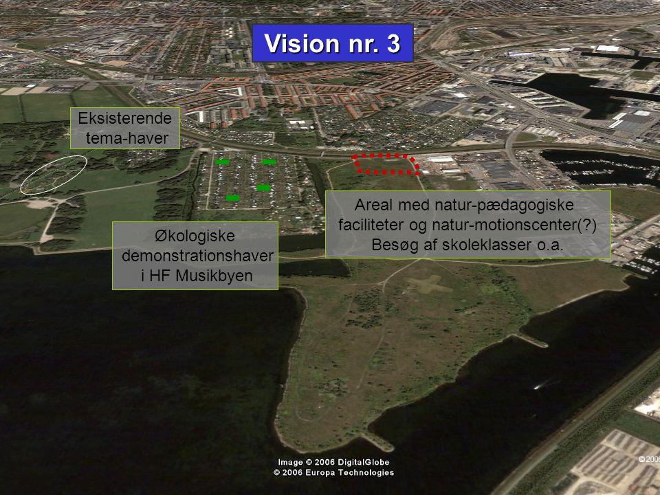 Vision nr. 3 Eksisterende tema-haver Areal med natur-pædagogiske
