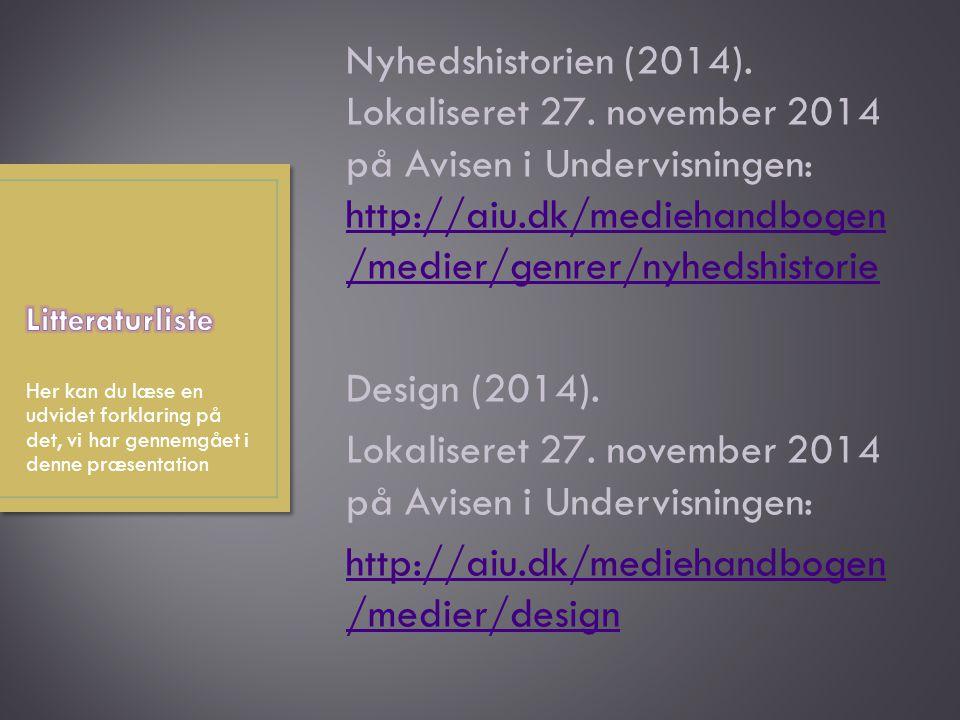 Nyhedshistorien (2014). Lokaliseret 27