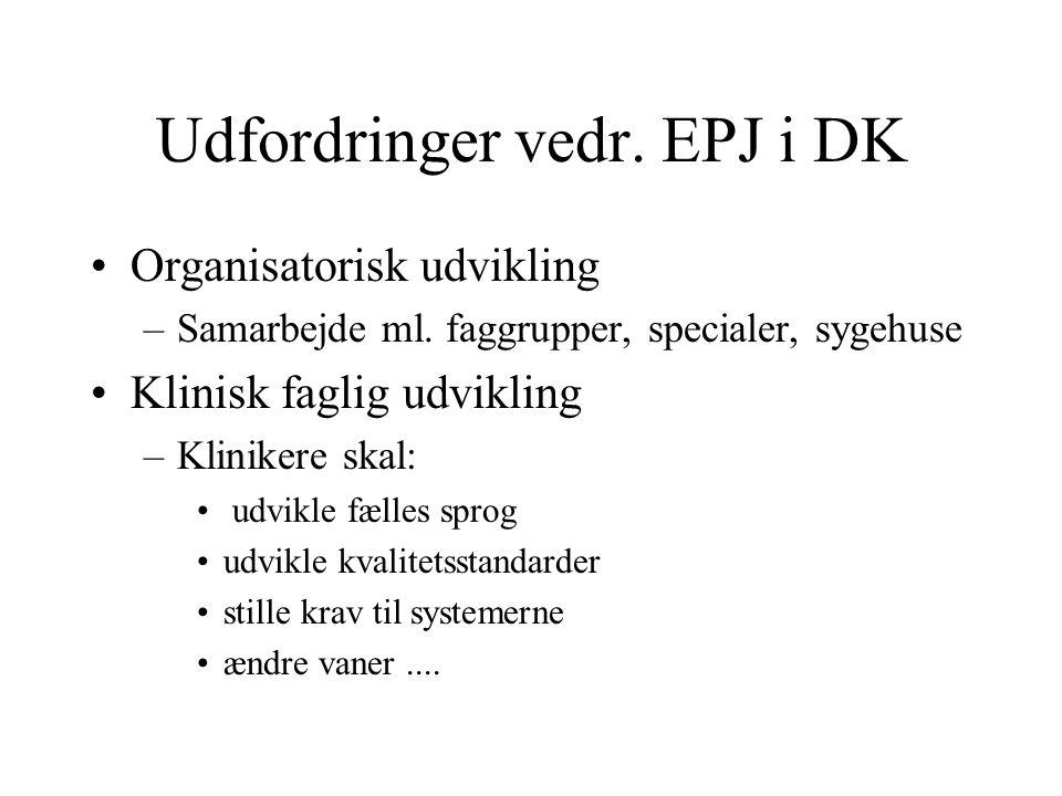 Udfordringer vedr. EPJ i DK
