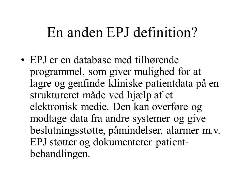 En anden EPJ definition