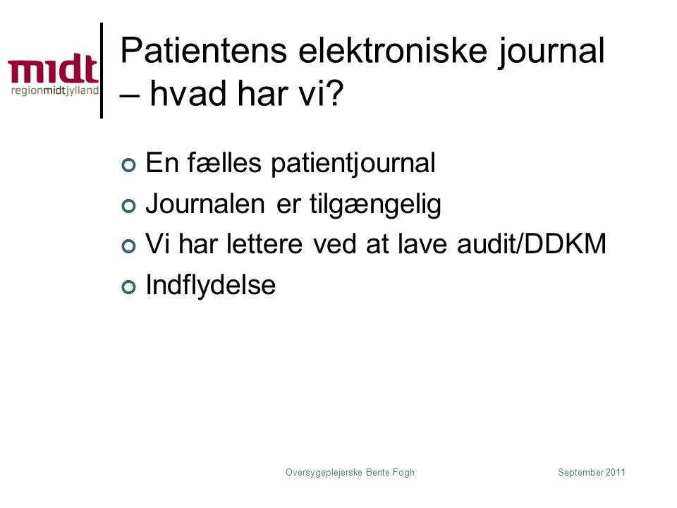 Patientens elektroniske journal – hvad har vi