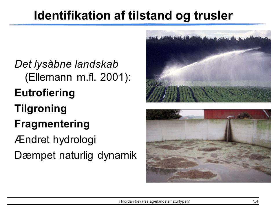 Identifikation af tilstand og trusler