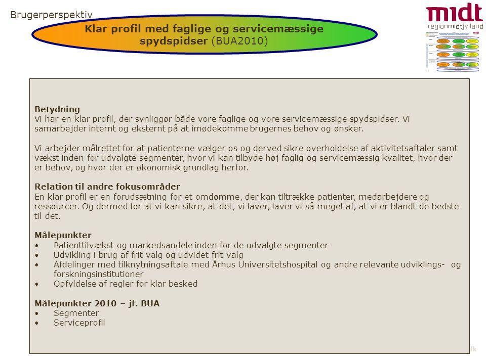 Klar profil med faglige og servicemæssige spydspidser (BUA2010)