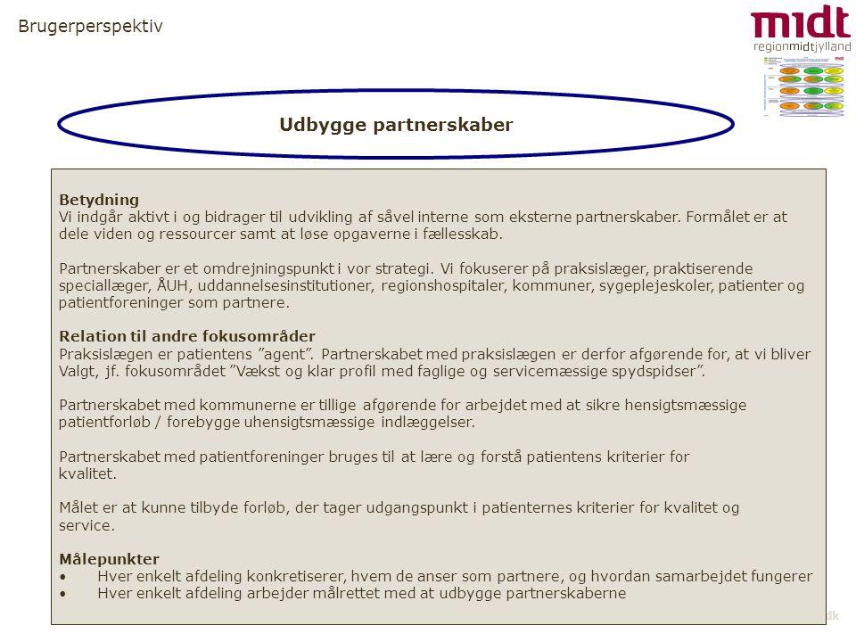Udbygge partnerskaber