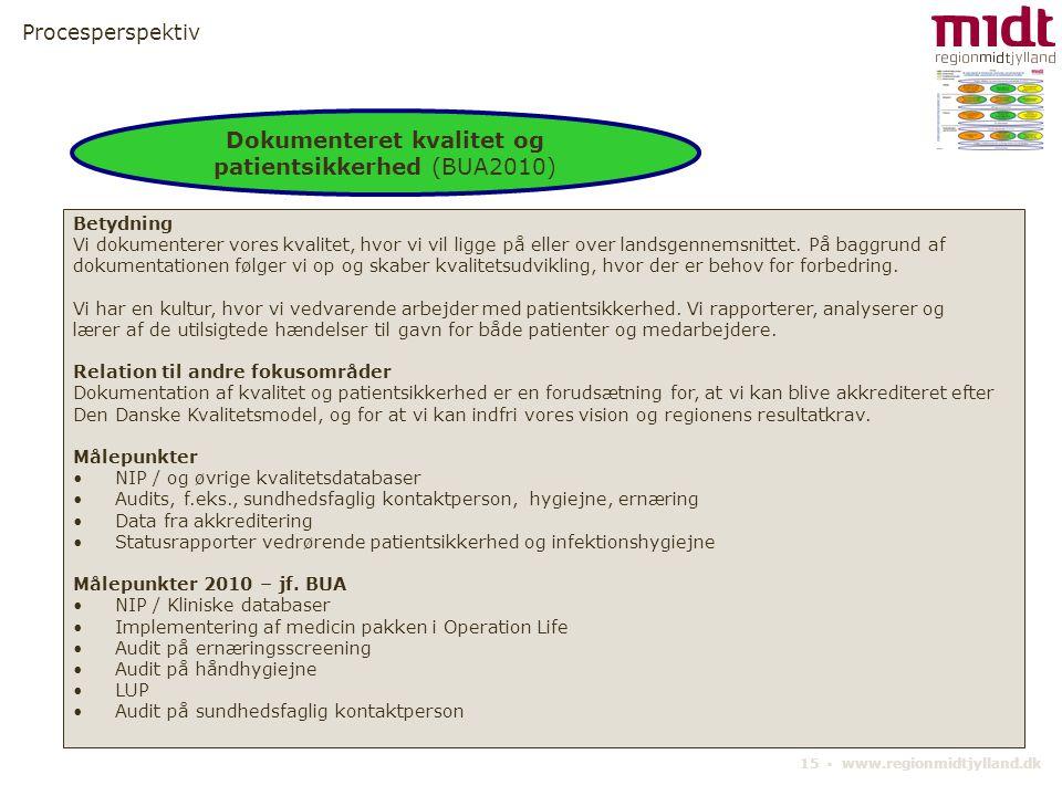 Dokumenteret kvalitet og patientsikkerhed (BUA2010)