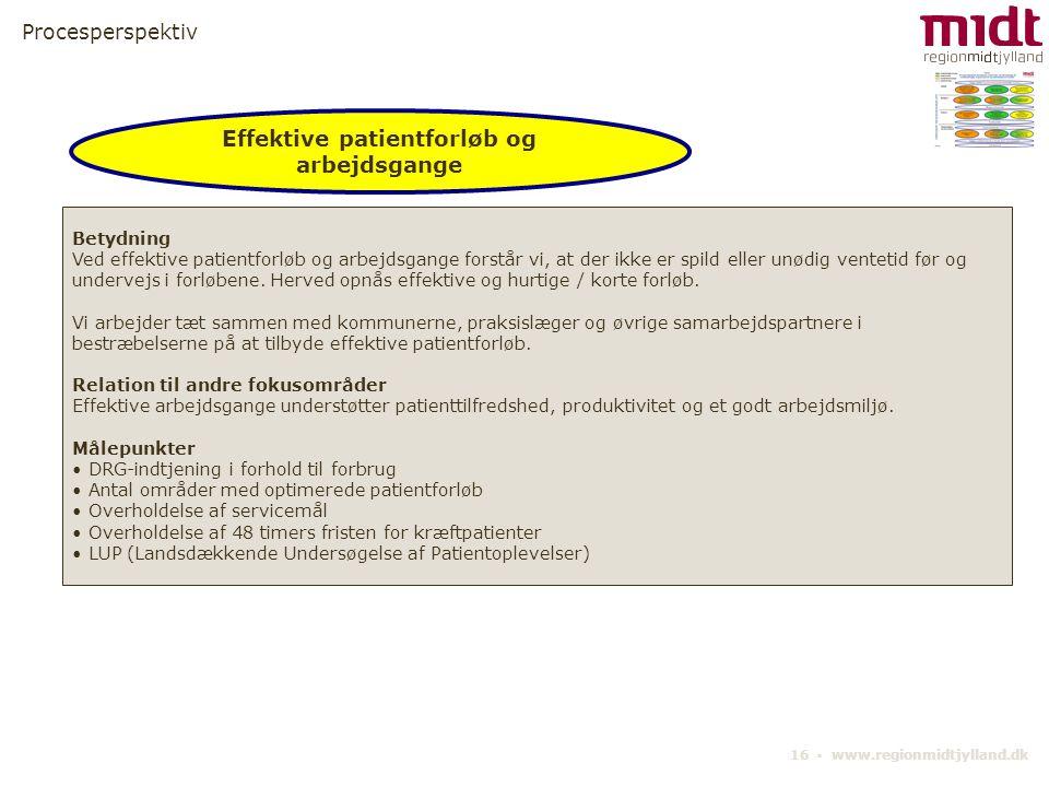 Effektive patientforløb og arbejdsgange