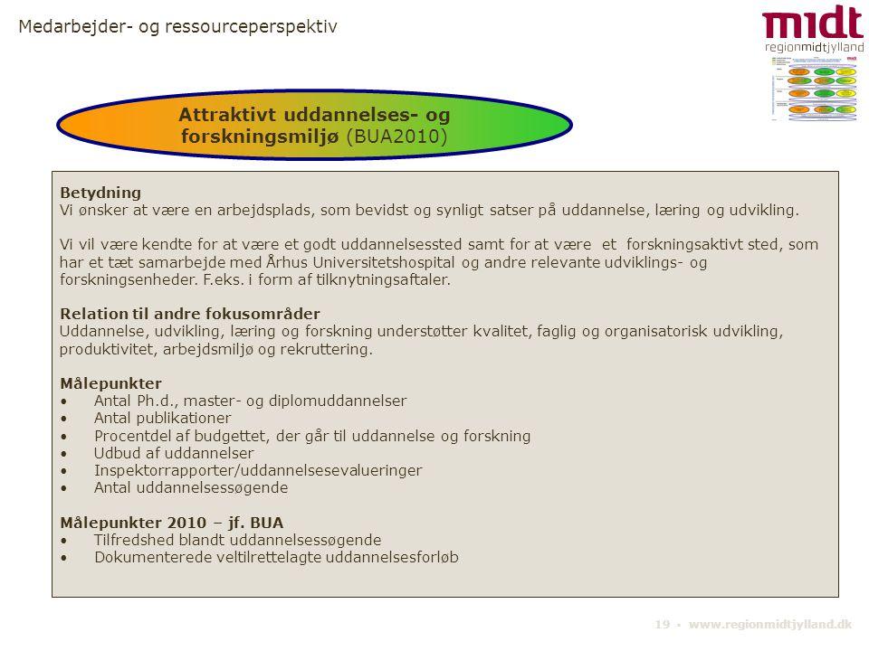 Attraktivt uddannelses- og forskningsmiljø (BUA2010)