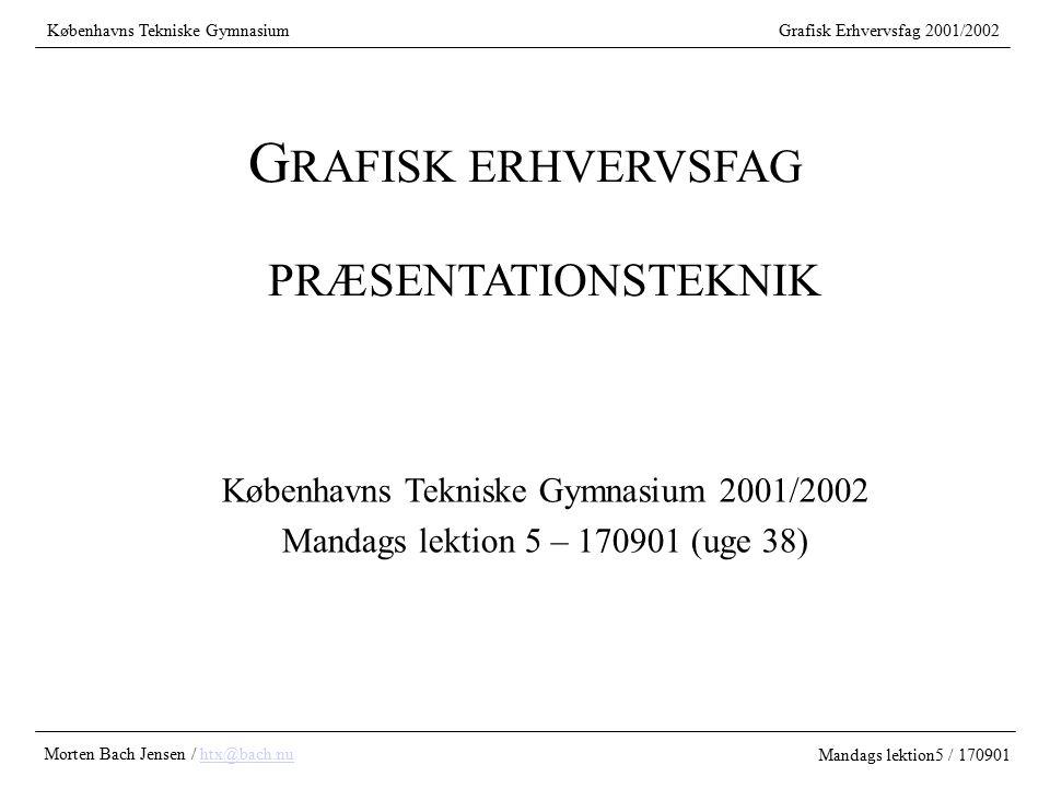 GRAFISK ERHVERVSFAG PRÆSENTATIONSTEKNIK