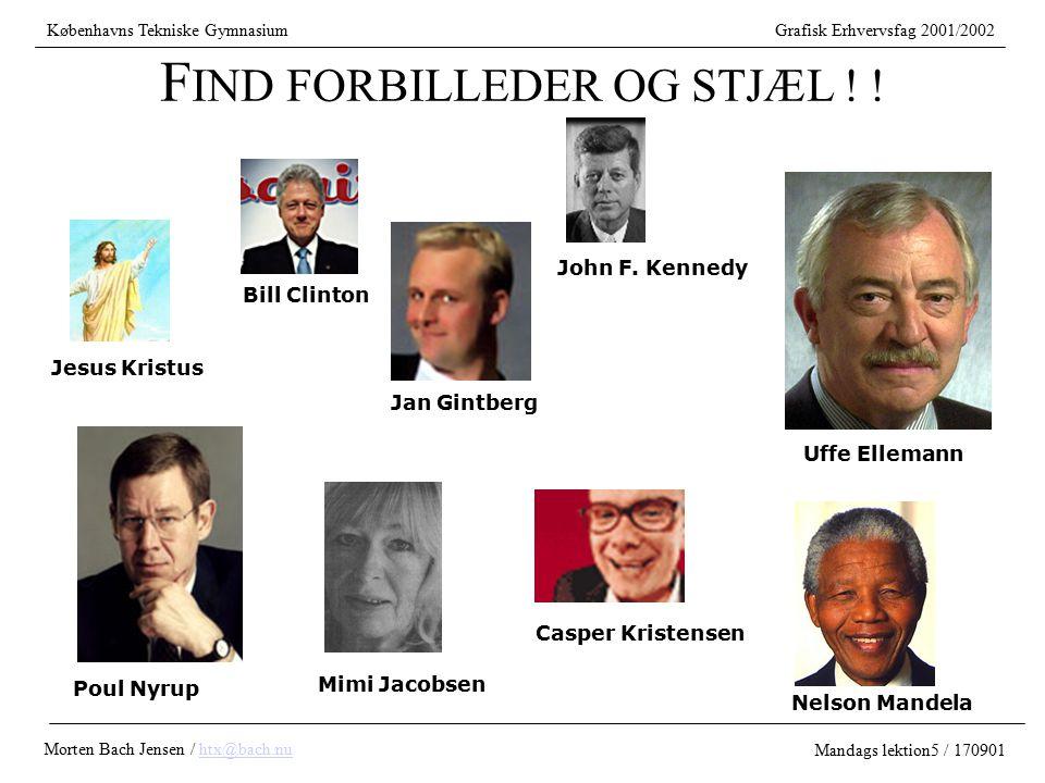 FIND FORBILLEDER OG STJÆL ! !